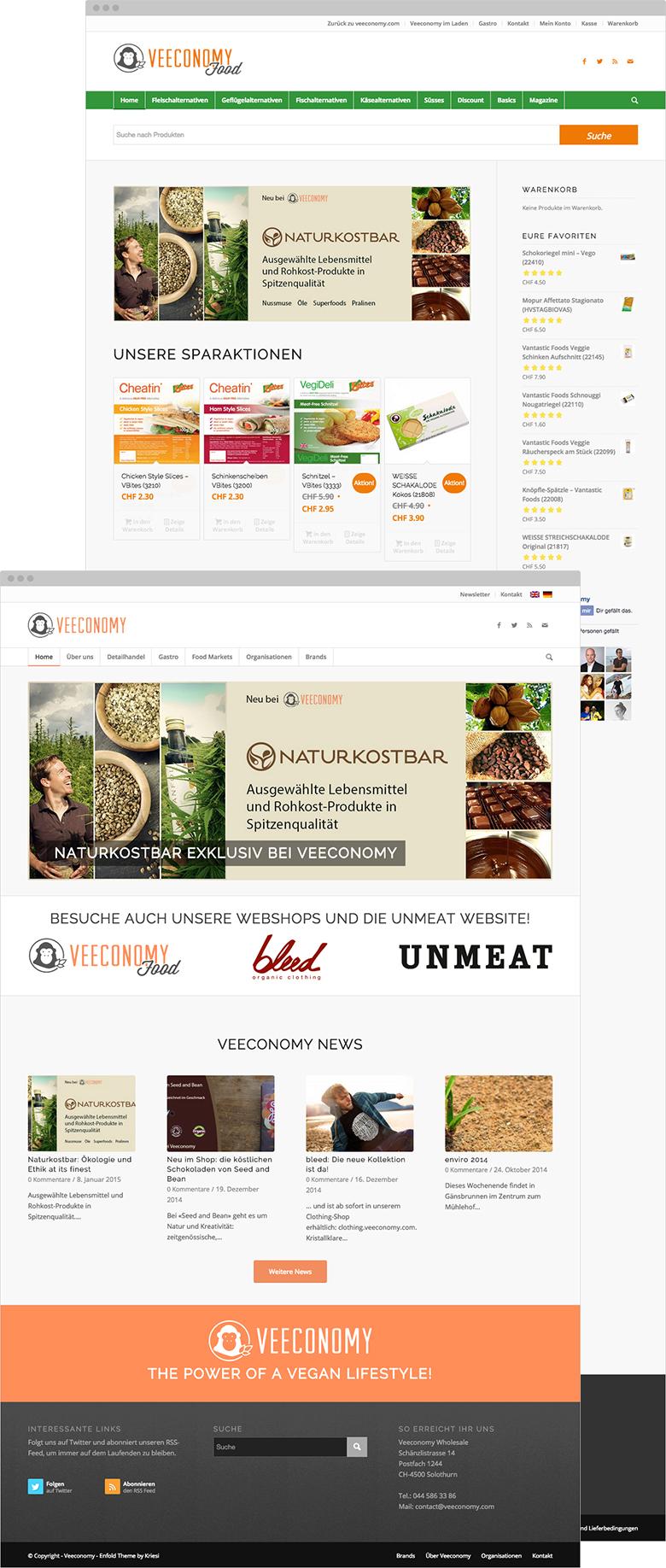 veeconomy.com & food.veeconomy.com - im Browser