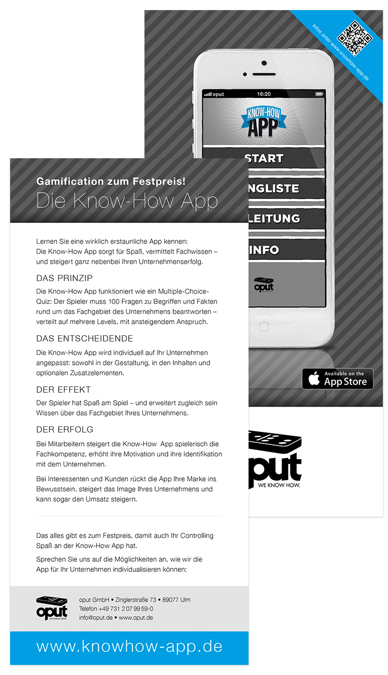 oput GmbH - Know How App Flyer