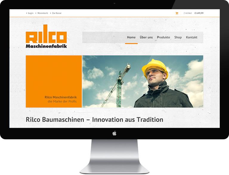Rilco Maschinenfabrik GmbH - Webauftritt und Webshop